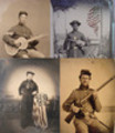 Thumbnail Set of 50 Civil War Old Photographs Vintage