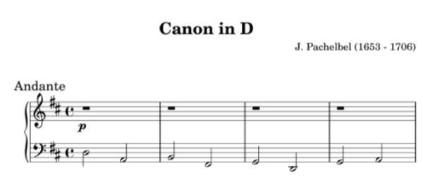 Product picture Canon in D Easy piano Sheet Music