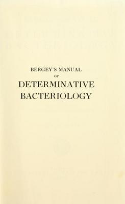 Product picture Bergeys manual of determinative bacteriology (1957)