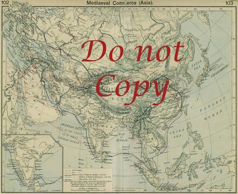 Product picture Asia Mediaeval Vintage Map